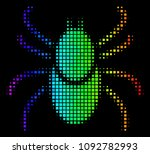 pixelated colorful halftone... | Shutterstock .eps vector #1092782993