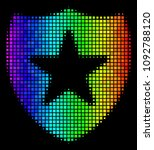 pixelated colorful halftone... | Shutterstock .eps vector #1092788120