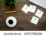 question mark on sticky notes...   Shutterstock . vector #1092788306