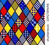 seamless vector pattern.... | Shutterstock .eps vector #1092789698
