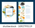 vector card or flyer templates...   Shutterstock .eps vector #1092795119