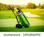 golf niblick and putter in... | Shutterstock . vector #1092806990