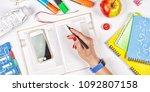 back to school concept. school... | Shutterstock . vector #1092807158