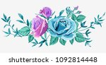 vector arrangements with pink... | Shutterstock .eps vector #1092814448