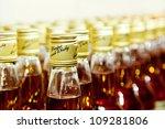 Closeup Of Bottles Of Scotch...