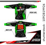 long sleeve motocross jerseys t ... | Shutterstock .eps vector #1092819926