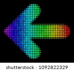 dotted colorful halftone arrow... | Shutterstock .eps vector #1092822329