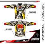 long sleeve motocross jerseys t ... | Shutterstock .eps vector #1092822593