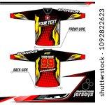 long sleeve motocross jerseys t ... | Shutterstock .eps vector #1092822623