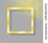 gold frame with shadow  on... | Shutterstock .eps vector #1092822920