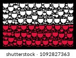 poland flag pattern combined of ...   Shutterstock .eps vector #1092827363