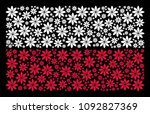 poland national flag pattern... | Shutterstock .eps vector #1092827369
