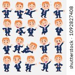 cartoon character businessman.... | Shutterstock .eps vector #1092827408