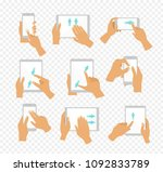 vector illustration set of flat ... | Shutterstock .eps vector #1092833789