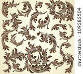 set of vintage calligraphic... | Shutterstock .eps vector #109283504