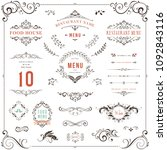 ornate design elements set.... | Shutterstock .eps vector #1092843116