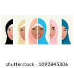 vector illustration of six... | Shutterstock .eps vector #1092845306