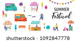 summer fest  food street fair ... | Shutterstock .eps vector #1092847778