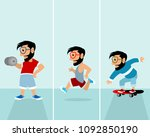 vector illustration of set of... | Shutterstock .eps vector #1092850190