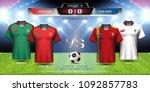 football cup 2018 team group b  ...   Shutterstock .eps vector #1092857783