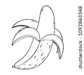 grunge delicious banana organic ... | Shutterstock .eps vector #1092863348
