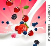 vector illustration of berries... | Shutterstock .eps vector #109286438