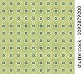 green geometric pattern in... | Shutterstock . vector #1092879200