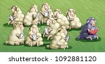 the sheep black law all the... | Shutterstock . vector #1092881120