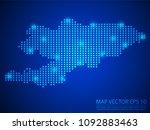 pixel mosaic glow blue dot map...