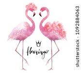 Flamingo With Flowers...