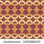 geometric folklore ornament.... | Shutterstock .eps vector #1092884453
