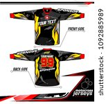 long sleeve motocross jerseys t ... | Shutterstock .eps vector #1092885989