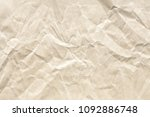 crumpled old brown paper texture | Shutterstock . vector #1092886748