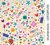 happy birthday pattern | Shutterstock .eps vector #109289150