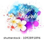 abstract travel background with ... | Shutterstock . vector #1092891896
