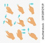 vector illustration set of... | Shutterstock .eps vector #1092892919
