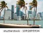 beautiful miami skyline along... | Shutterstock . vector #1092895934