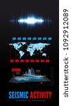 seismic activity infographics... | Shutterstock . vector #1092912089