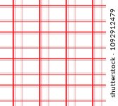 seamless red and pink plaid... | Shutterstock .eps vector #1092912479