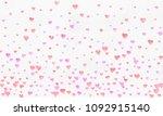 heart watercolor shape  pink... | Shutterstock . vector #1092915140