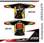 long sleeve motocross jerseys t ...   Shutterstock .eps vector #1092916379