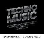 vector glossy label techno... | Shutterstock .eps vector #1092917510