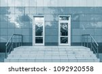 entrance of the modern business ... | Shutterstock . vector #1092920558