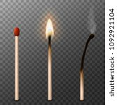 matches realistic 3d. burning...   Shutterstock .eps vector #1092921104