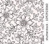 floral seamless vector summer... | Shutterstock .eps vector #1092923060
