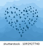 flight birds in the form of... | Shutterstock .eps vector #1092927740
