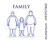 family. mom  dad and daughter.... | Shutterstock .eps vector #1092927860