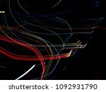 color magic line. abstract... | Shutterstock . vector #1092931790