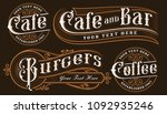 set of vintage lettering... | Shutterstock .eps vector #1092935246