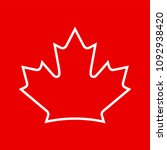 vector canadian maple leaf icon   Shutterstock .eps vector #1092938420